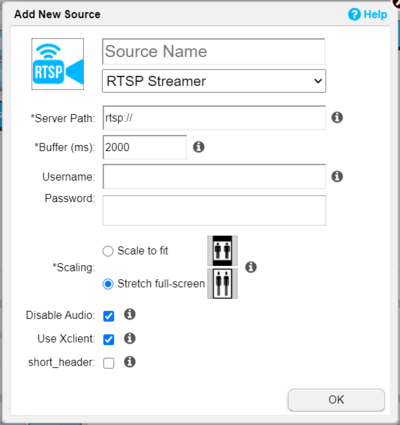 Mapping: RTSP Streamer - Userful Support